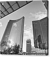 Citycenter - View Of The Vdara Hotel And Spa Located In Citycenter In Las Vegas  Acrylic Print by Jamie Pham
