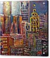 Cityscape 9 Acrylic Print by Don Thibodeaux