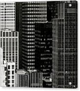 Cityscape In Black And White Acrylic Print by Diane Diederich
