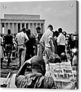 Civil Rights Occupiers Acrylic Print by Benjamin Yeager
