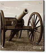 Civil War Cannon Acrylic Print by Olivier Le Queinec