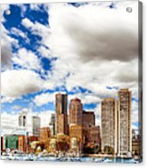 Classic Boston Skyline From The Water Acrylic Print by Mark E Tisdale