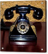 Classic Rotary Dial Telephone Acrylic Print by Mariola Bitner