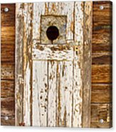 Classic Rustic Rural Worn Old Barn Door Acrylic Print by James BO  Insogna