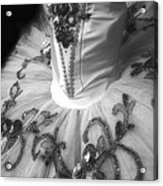 Classically Costumed X Monochrome Acrylic Print by Cassandra Buckley