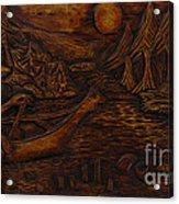 Clatsop Coyote God Italapas Acrylic Print by Carlo Olkeriil