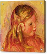 Claude Renoir Acrylic Print by Pierre Auguste Renoir