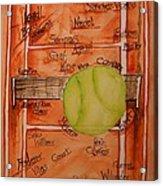 Clay Courters Acrylic Print by Elaine Duras