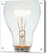 Clear Light Bulb Acrylic Print by Olivier Le Queinec