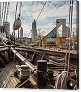 Cleveland From The Deck Of The Peacemaker Acrylic Print by Dale Kincaid