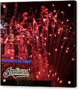 Cleveland Indians Acrylic Print by Frozen in Time Fine Art Photography
