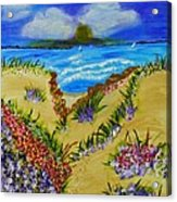 Cliff Notes Acrylic Print by Celeste Manning