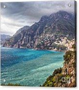 Cliffs Of Amalfi Coastline  Acrylic Print by George Oze