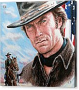 Clint Eastwood American Legend Acrylic Print by Andrew Read