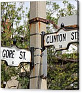 Clinton And Gore Acrylic Print by Andrew Fare