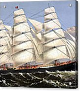 Clipper Ship Three Brothers Acrylic Print by War Is Hell Store