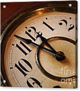 Clock Face Acrylic Print by Johan Swanepoel