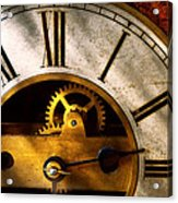 Clockmaker - What Time Is It Acrylic Print by Mike Savad