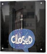 Closed Sleep Tight Acrylic Print by Scott Norris