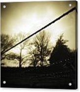 Clotheslines  Acrylic Print by Les Cunliffe