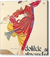 Clotilde And Alexandre Sakharoff Acrylic Print by George Barbier