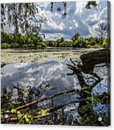 Clouds On The Water Acrylic Print by CJ Schmit