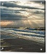 Cloudy Sunrise Acrylic Print by Michael Thomas