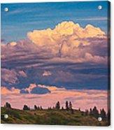 Cloudy Sunset Acrylic Print by Omaste Witkowski