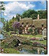 Cobble Walk Cottage Acrylic Print by Dominic Davison
