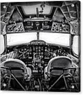 cockpit of a DC3 Dakota Acrylic Print by Paul Fell