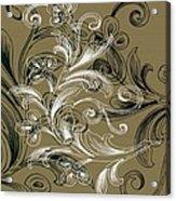 Coffee Flowers 4 Olive Acrylic Print by Angelina Vick
