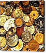 Coinage Acrylic Print by Benjamin Yeager