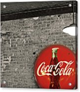 Coke Cola Sign Acrylic Print by Paulette B Wright