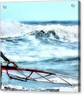 Cold Feet - Stormy Seas - Outer Banks Acrylic Print by Dan Carmichael
