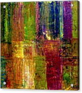 Color Panel Abstract Acrylic Print by Michelle Calkins
