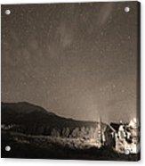 Colorado Chapel On The Rock Dreamy Night Sepia Sky Acrylic Print by James BO  Insogna