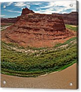 Colorado River Gooseneck Acrylic Print by Adam Romanowicz