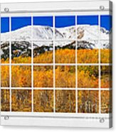 Colorado Rocky Mountain Autumn Pass White Window View  Acrylic Print by James BO  Insogna