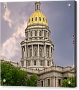 Colorado State Capitol Building Denver Co Acrylic Print by Christine Till