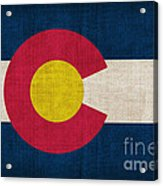 Colorado State Flag Acrylic Print by Pixel Chimp