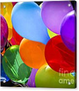 Colorful Balloons Acrylic Print by Elena Elisseeva
