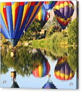 Colorful Balloons Fill The Frame Acrylic Print by Carol Groenen