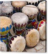 Colorful Congas Acrylic Print by Carlos Caetano