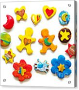Colorful Cookies Acrylic Print by Carlos Caetano