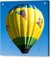 Colorful Hot Air Balloon Over Vermont Acrylic Print by Edward Fielding