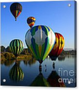Colorful Landings Acrylic Print by Mike  Dawson