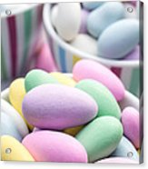 Colorful Pastel Jordan Almond Candy Acrylic Print by Edward Fielding