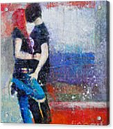 Colorful Teen Together For Ever  Acrylic Print by Johane Amirault