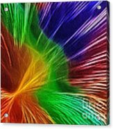 Colors Lines And Textures Acrylic Print by Kaye Menner