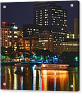 Colors On The Charles Acrylic Print by Joann Vitali